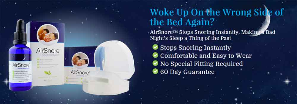 stop snoring instantly with airsnore 60 day guarantee