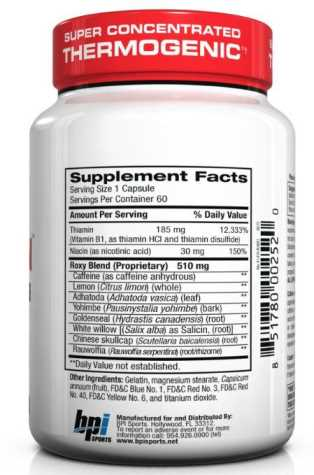 roxylean supplement facts