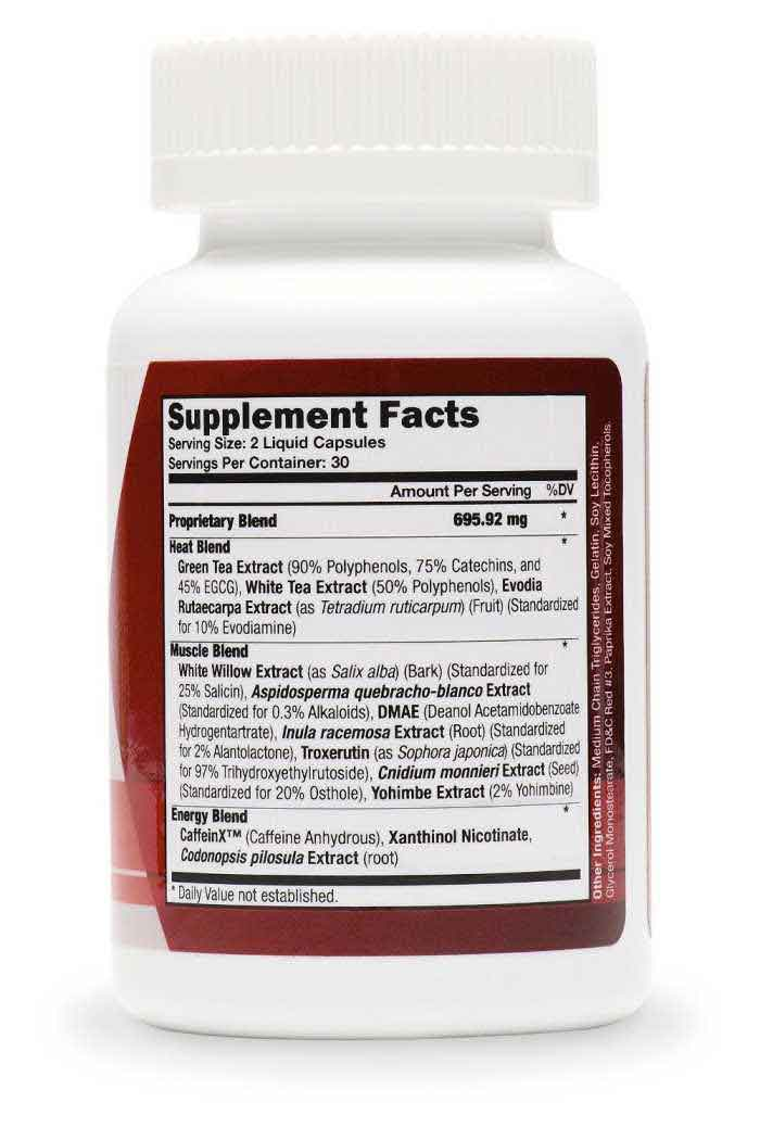 x slim fat burner supplement facts