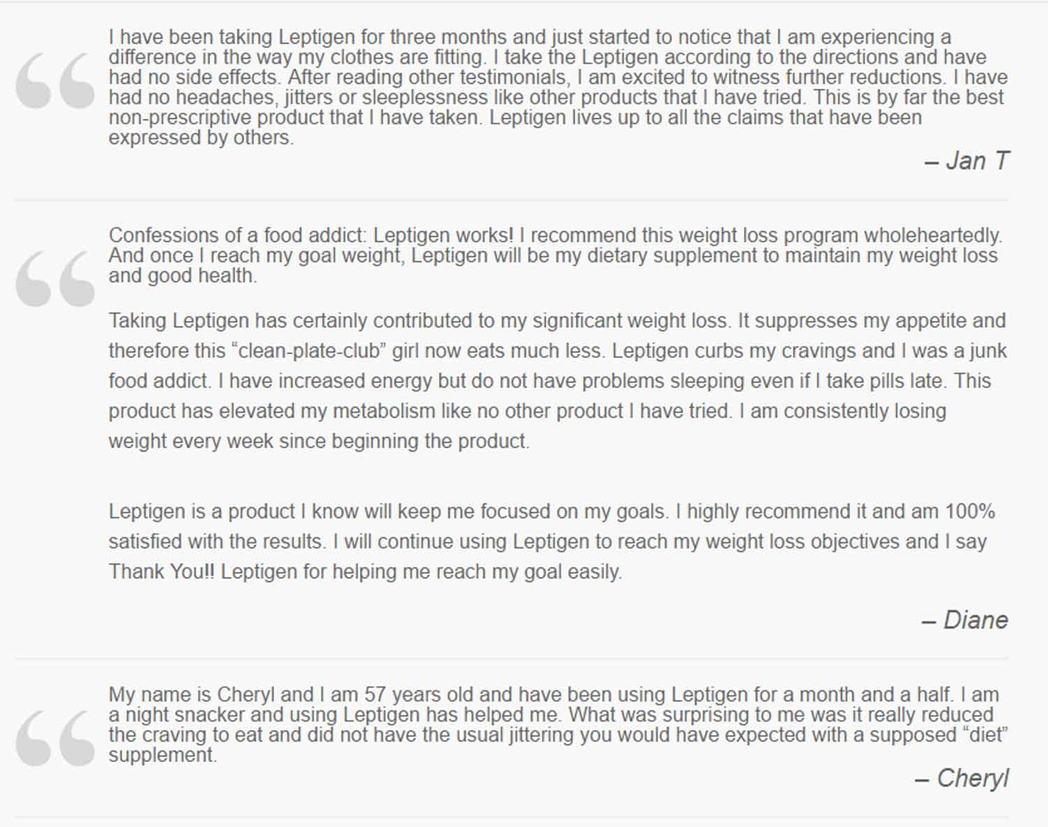 leptigen customer reviews