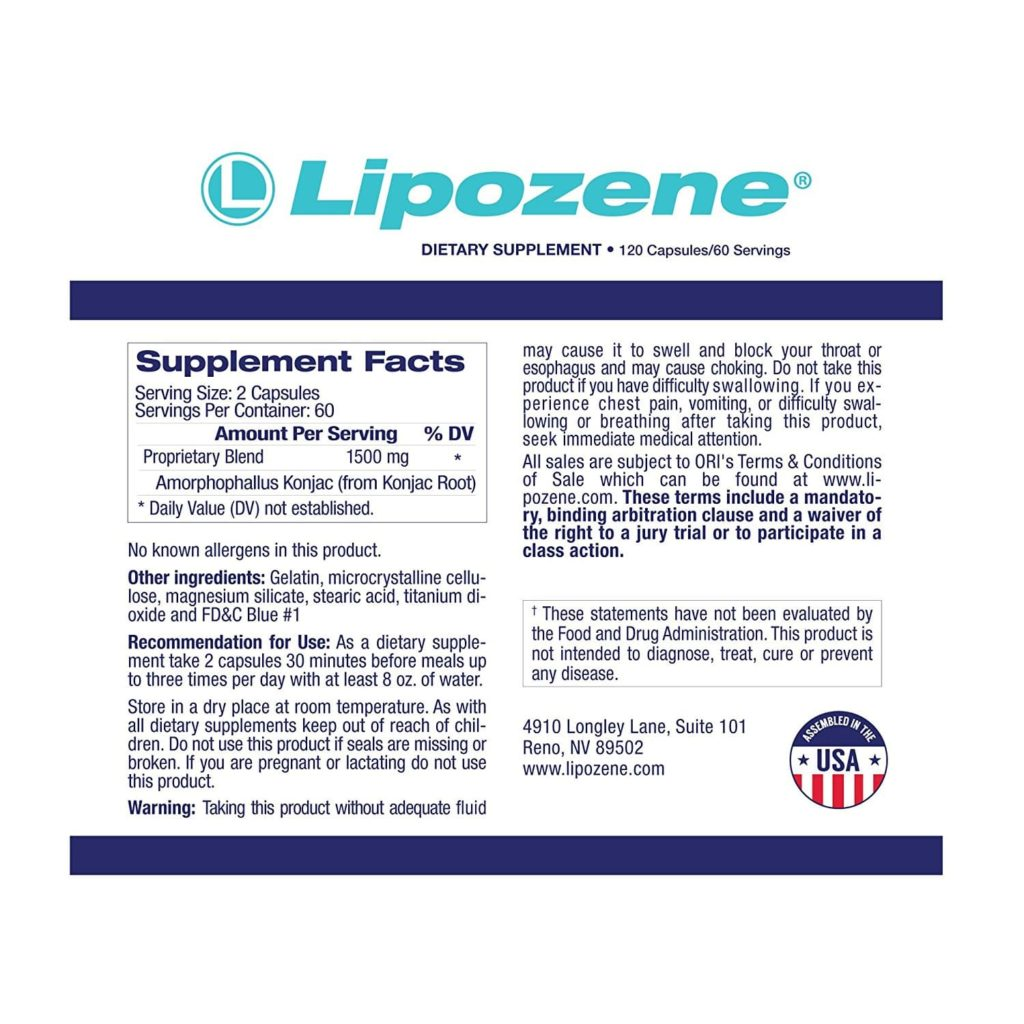 lipozene ingredients does it work