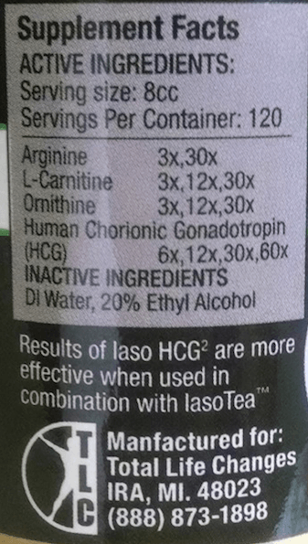 IASO hcg2 ingredients